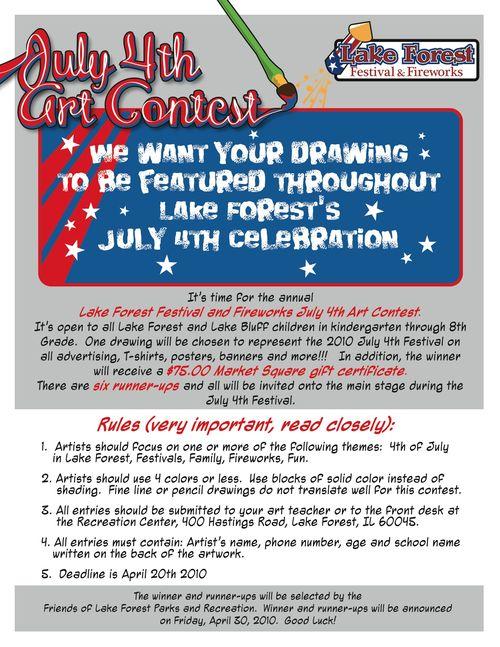 Lf parks rec 2010 Art Contest Poster